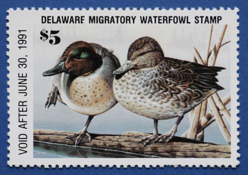 1990 Delaware State Duck Stamp (DE11)