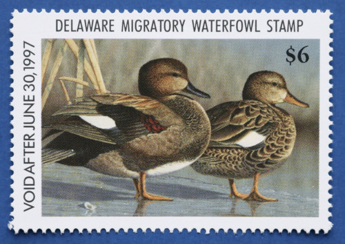1996 Delaware State Duck Stamp (DE17)