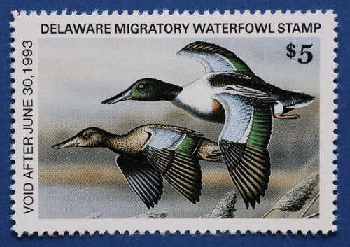 1992 Delaware State Duck Stamp - hunter type (DE13h)