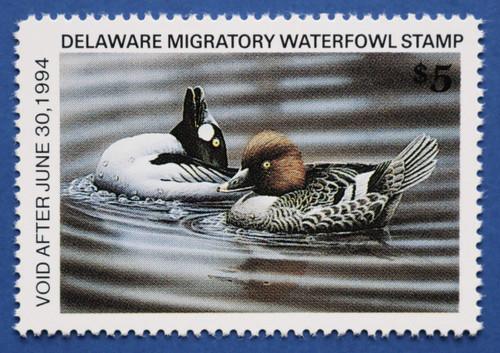 1993 Delaware State Duck Stamp - hunter type (DE14h)