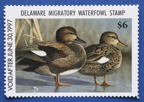 1996 Delaware State Duck Stamp - hunter type (DE17h)