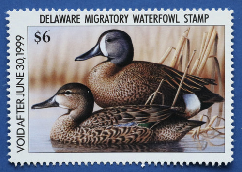 1998 Delaware State Duck Stamp - hunter type (DE19h)
