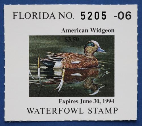 1993 Florida State Duck Stamp (FL13)