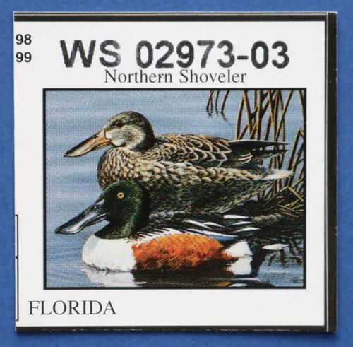 U.S. (FL20) 1998 Florida State Duck Stamp (FL20)