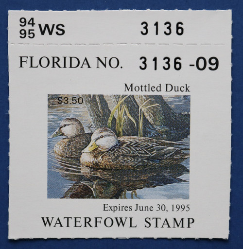 1994 Florida State Duck Stamp with tab (FL16T)