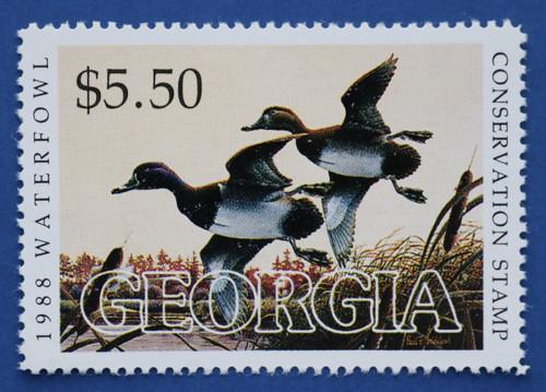 1988 Georgia State Duck Stamp (GA04)