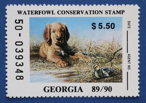 1989 Georgia State Duck Stamp (GA05)