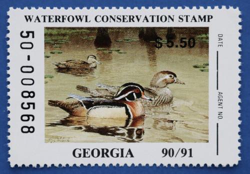 1990 Georgia State Duck Stamp (GA06)