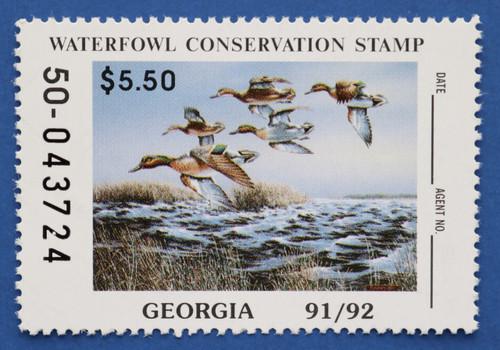 1991 Georgia State Duck Stamp (GA07)