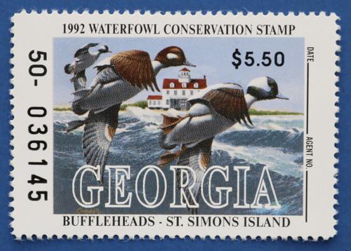 1992 Georgia State Duck Stamp (GA08)