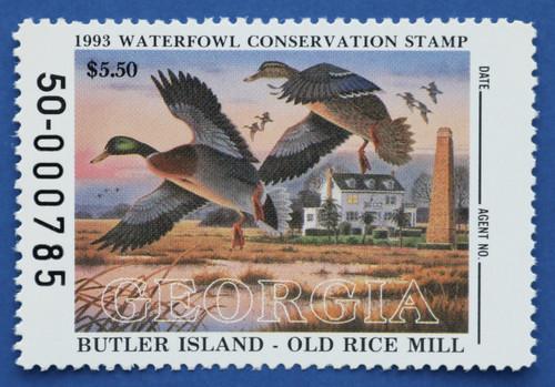 1993 Georgia State Duck Stamp (GA09)