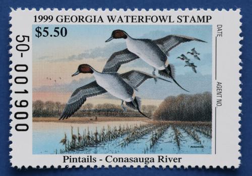 1999 Georgia State Duck Stamp (GA15)