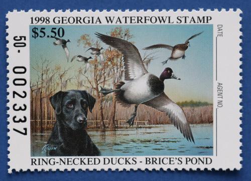 1998 Georgia State Duck Stamp (GA14)