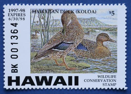 1997 Hawaii Wildlife Conservation Stamp -type2 (HI02v2)