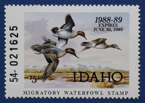 1988 Idaho State Duck Stamp (ID02)