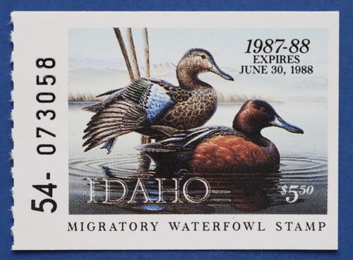 1987 Idaho State Duck Stamp - booklet single (ID01h)