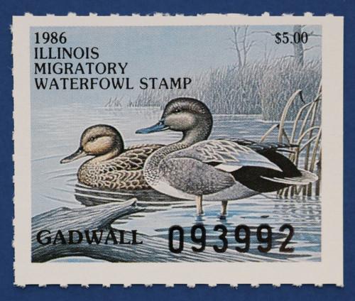 1986 Illinois State Duck Stamp (IL12)