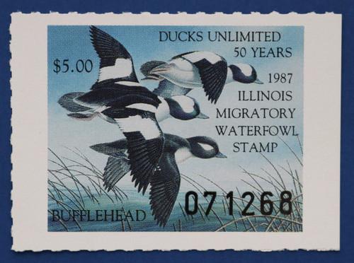 1987 Illinois State Duck Stamp (IL13)