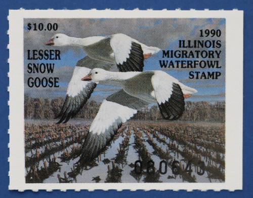 1990 Illinois State Duck Stamp (IL16)