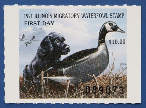 1991 Illinois State Duck Stamp (IL17)