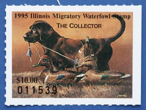 1995 Illinois State Duck Stamp (IL21)