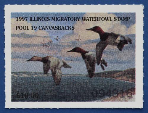 1997 Illinois State Duck Stamp (IL23)