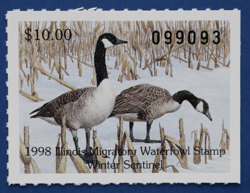 1998 Illinois State Duck Stamp (IL24)