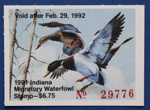 1991 Indiana State Duck Stamp (IN16)