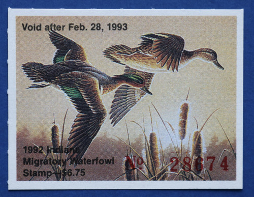 1992 Indiana State Duck Stamp (IN17)