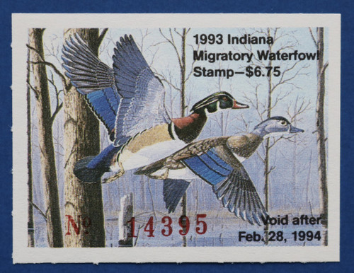 1993 Indiana State Duck Stamp (IN18)