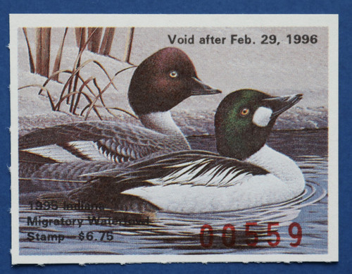 1995 Indiana State Duck Stamp (IN20)