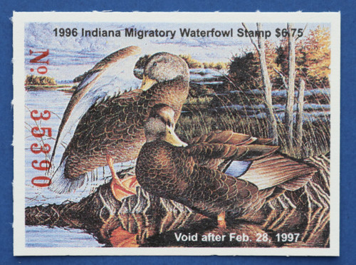 1996 Indiana State Duck Stamp (IN21)
