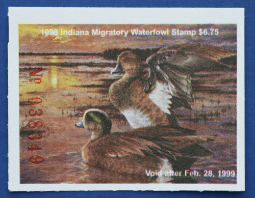 1998 Indiana State Duck Stamp (IN23)