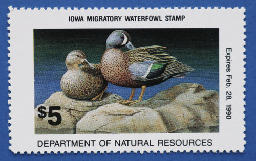 1989 Iowa State Duck Stamp (IA18)