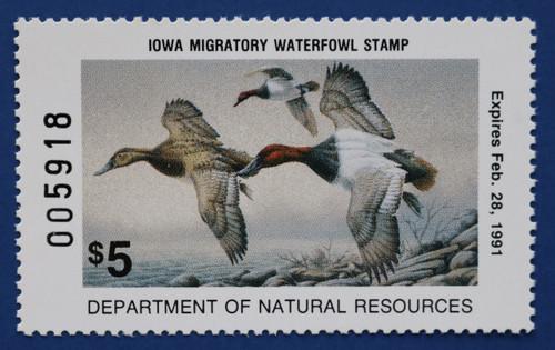 1990 Iowa State Duck Stamp (IA19)