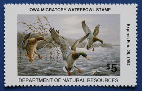 1993 Iowa State Duck Stamp (IA22)