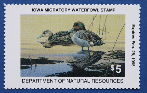1994 Iowa State Duck Stamp (IA23)