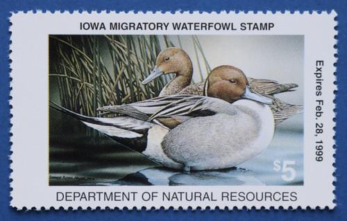 1998 Iowa State Duck Stamp (IA27)