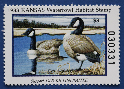 1988 Kansas State Duck Stamp (KS02)