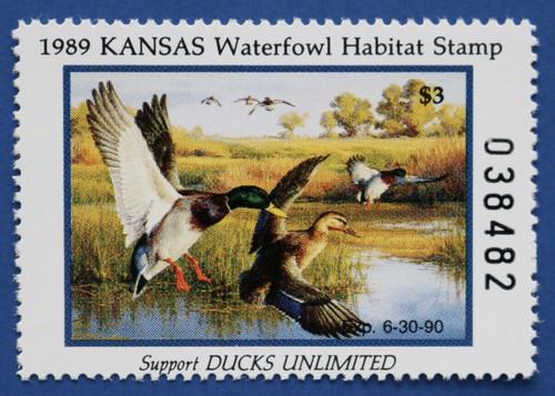 1989 Kansas State Duck Stamp (KS03)