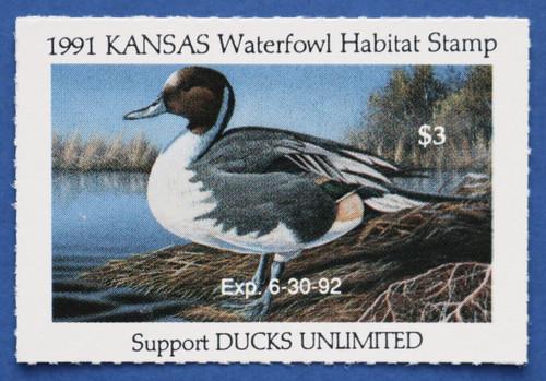 1991 Kansas State Duck Stamp (KS05)