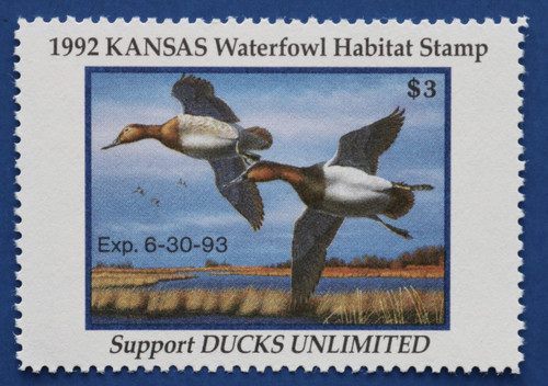 1992 Kansas State Duck Stamp (KS06)