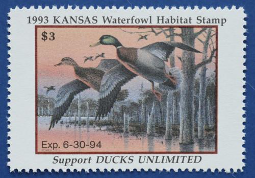 1993 Kansas State Duck Stamp (KS07)