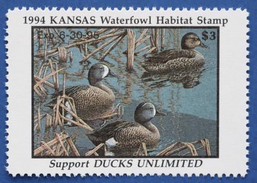 1994 Kansas State Duck Stamp (KS08)