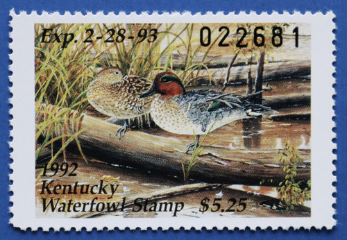 1992 Kentucky State Duck Stamp (KY08)