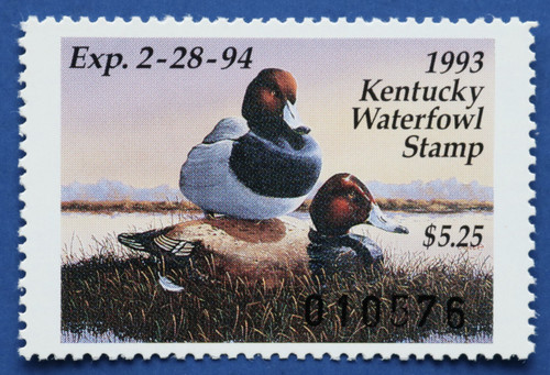 1993 Kentucky State Duck Stamp (KY09)