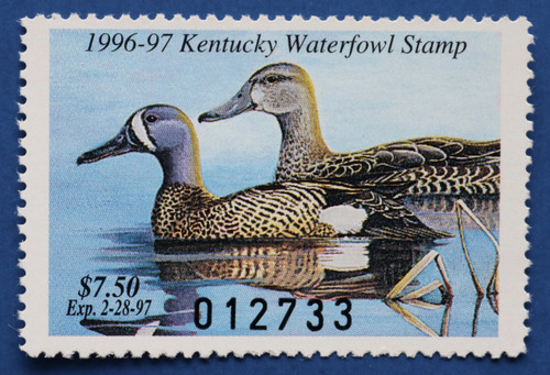 1996 Kentucky State Duck Stamp (KY12)