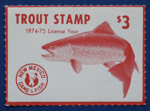 1974 New Mexico Trout Stamp (NMT02)
