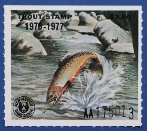 1977 New Mexico Trout Stamp (NMT07)
