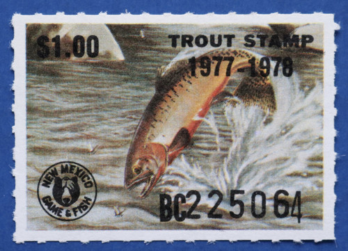 1977 New Mexico Trout Stamp (NMT09)